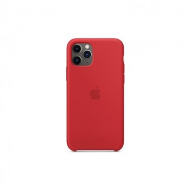 Husa protectie spate Apple silicon MWYH2ZMA pt iPhone 11 Pro, red