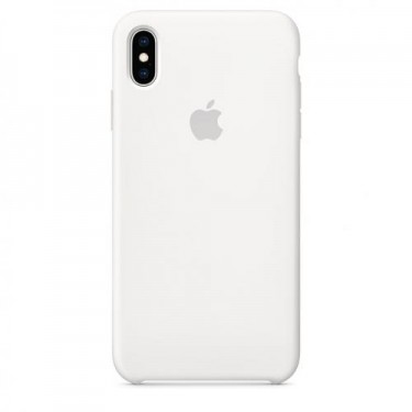 Husa protectie spate Apple silicon whitee pt iPhone XS Max MRWF2ZM