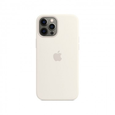 Husa protectie spate din silicon MagSafe pt Apple iPhone 12 Pro Max MHLE3ZM, white