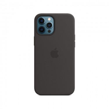 Husa protectie spate din silicon MagSafe pt Apple iPhone 12 Pro Max MHLG3ZM, black