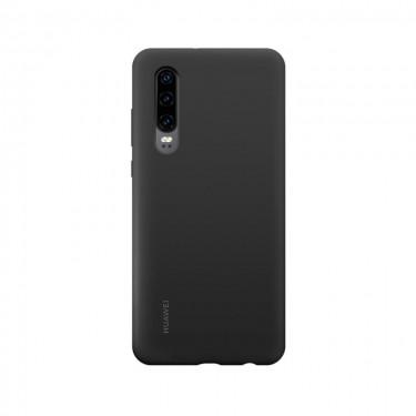 Husa protectie spate Huawei silicon black pt Huawei P30