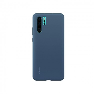 Husa protectie spate Huawei silicon blue pt Huawei P30 Pro