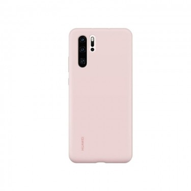 Husa protectie spate Huawei silicon pink pt Huawei P30 Pro