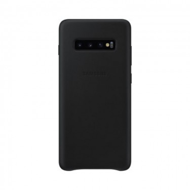 Husa protectie spate Samsung leather cover black pt Samsung Galaxy S10+