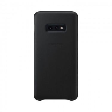 Husa protectie spate Samsung Leather Cover black pt Samsung Galaxy S10e