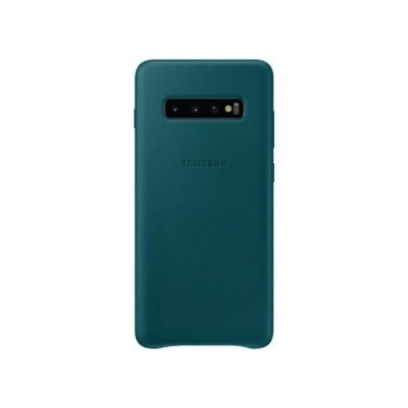 Husa protectie spate Samsung Leather Cover green pt Samsung Galaxy S10+