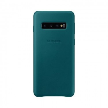 Husa protectie spate Samsung leather cover green pt Samsung Galaxy S10