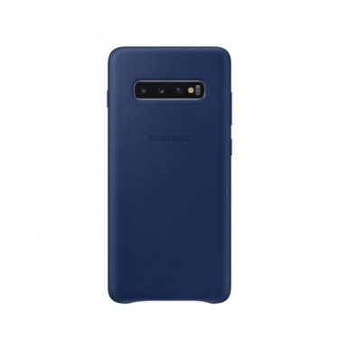 Husa protectie spate Samsung Leather Cover navy pt Samsung Galaxy S10+