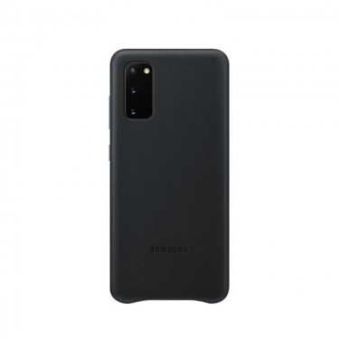 Husa protectie spate Samsung Leather Cover pt Samsung Galaxy S20, black