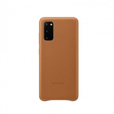 Husa protectie spate Samsung Leather Cover pt Samsung Galaxy S20, brown