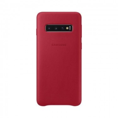 Husa protectie spate Samsung Leather Cover red pt Samsung Galaxy S10