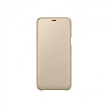 Husa Samsung Flip Wallet pt Galaxy A6+ (2018) A605, gold