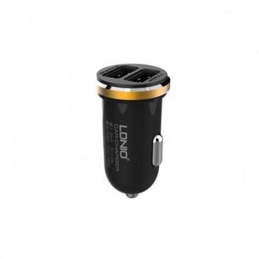 Incarcator auto Ldnio fast charging + cablu microUSB, black