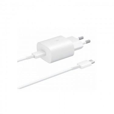 Incarcator retea Samsung EP-TA800XWEGWW Fast Charger, 1 x USB-C, 25W + cablu USB-C, white