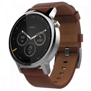 Ceas Motorola Moto 360 Gen2 46mm Smartwatch leather