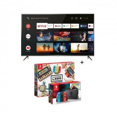 Pachet TV TCL + consola Nintendo Switch Neon + kit Nintendo