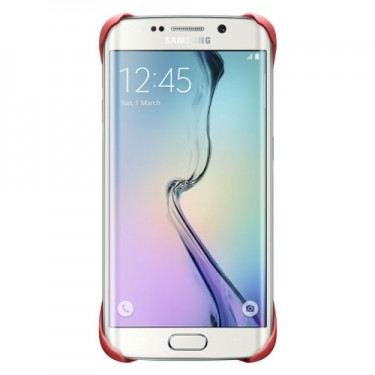 Husa protectie spate Samsung Protective Cover red pt Galaxy S6 Edge