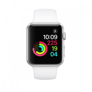 Smartwatch Apple Watch 1, 42mm, Silver si bratara White MNNL2MP/A
