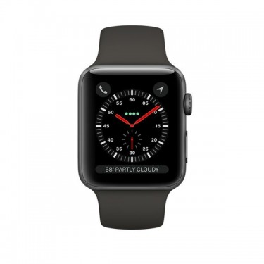 Smartwatch Apple Watch 3 GPS, 38mm, Space Grey si bratara Sport Grey