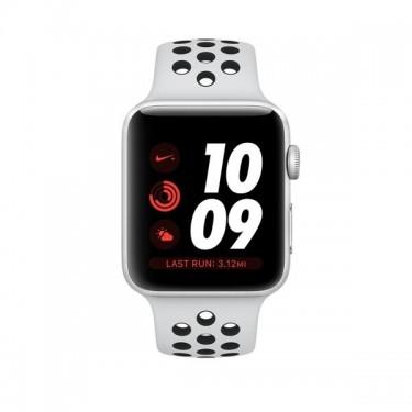 Smartwatch Apple Watch Nike+ GPS, 38mm Silver + bratara Pure Platinum Black