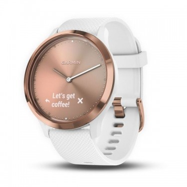 Smartwatch Garmin Vivomove HR Sport White - Rose Gold, Small