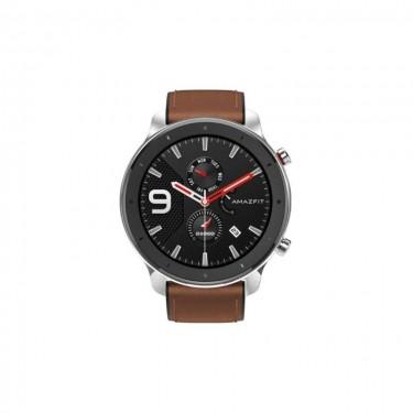 Smartwatch Xiaomi Huami Amazfit GTR 47mm, carcasa aluminiu si curea maro