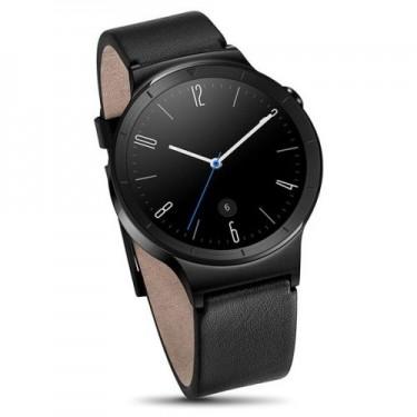 Ceas Huawei Watch W1 smartwatch black leather strap