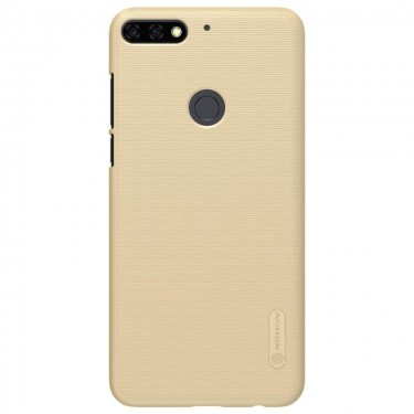 Capac protector Nillkin Frosted gold si folie pt Huawei Y7 Prime (2018)
