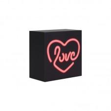 Boxa Bluetooth BigBen Neon Light Love, black