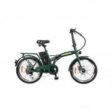 "Bicicleta electrica FreeWheel E-bike City, Pliabila, Roti 20"", Frana disc fata/spate, Motor 250W, Autonomie pana la 35Km, Viteza maxima 25Km/h, green"