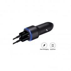 Incarcator auto Samsung Dual USB Fast Car Charge 2 x USB (15W), 2A, black