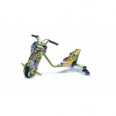Tricicleta Electrica Freewheel Drift Trike Super Power, graffiti yellow