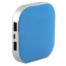 Baterie externa panasonic 9000mAh microusb dual charging blue