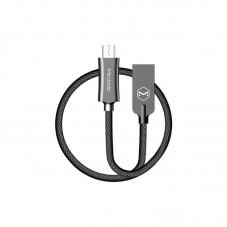 Cablu de date McDodo Knight microUSB, 1.5m, QC 4.0, impletitura nylon, black