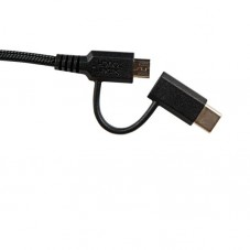 Cablu de date Super Touch 2 in 1 microUSB si Type-C