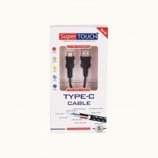 Cablu de date Super Touch USB Type-C ultra rezistent 1.5m, black
