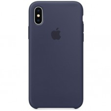Husa protectie spate Apple Leather Cover pt iPhone X, midnight blue