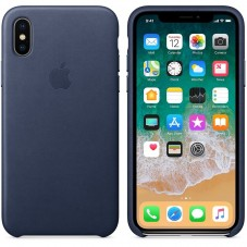 Husa protectie spate Apple silicon, Midnight blue pt iPhone X