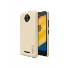 Husa protectie spate Nillkin frosted Gold si folie pt Motorola C Plus