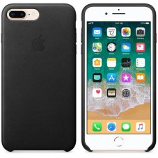 Husa protectie spate Apple Leather Cover pt iPhone 8+, black