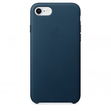 Capac protector Apple piele cosmos blue pt iPhone 8/7