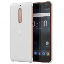 Husa protectie spate cc-803, white carbon fibre design pt Nokia 5