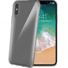 Husa protectie spate Celly gelskin black transparent pt iPhone X