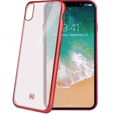 Husa protectie spate Celly Laser Matt red pt iPhone X