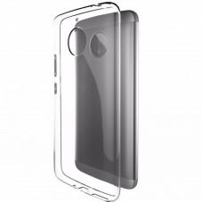 Capac protector Lenovo din slicon transparent si folie pt Moto E4 Plus
