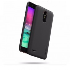 Capac protector Nillkin frosted black si folie pt LG K10 (2017)
