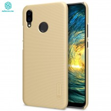 Capac protector Nillkin Frosted si folie pt Huawei P20 lite Gold