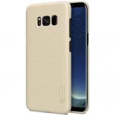 Capac protector Nillkin frosted gold si folie pt Samsung Galaxy S8+