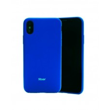 Husa protectie spate Roar all day blue silicon pt iPhone X