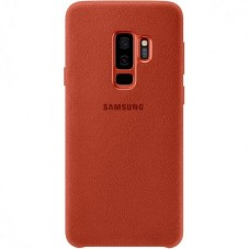 Capac protector Samsung Alcantara Cover Red pt Galaxy S9 Plus